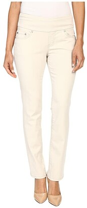 Jag Jeans Petite Peri Pull-On Straight Leg Pants in Bay Twill (Stone) Women's Casual Pants