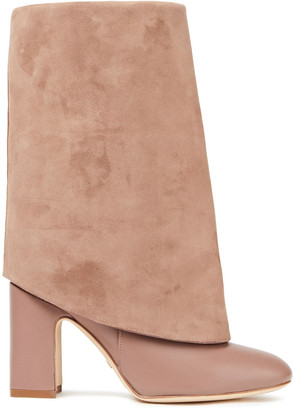 Stuart Weitzman Lucinda Suede And Leather Boots