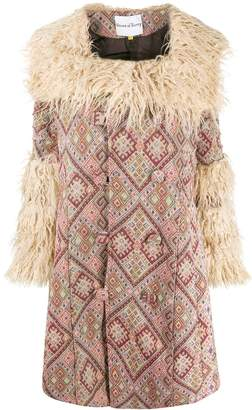 House of Sunny faux-fur collar coat