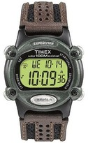Timex Men's Expedition® Digital Watch with Nylon/Leather Strap - Black/Brown T48042JT