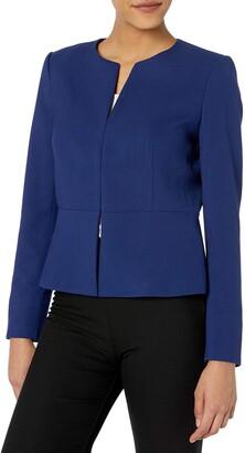 Tahari ASL Women's Collarless Peplum Jacket