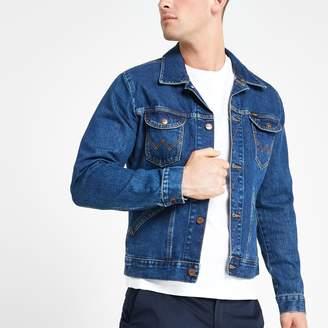 Wrangler Mens River Island dark Blue denim jacket