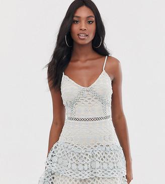 Parisian Tall cami strap lace tiered dress