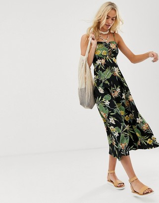 Asos DESIGN cami maxi dress in tropical print