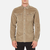 Levi's Authentic Wash Cord Worker Shirt Olive Grey