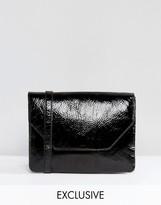 Monki Cracked Patent Cross Body Bag