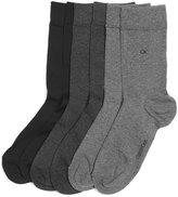 Calvin Klein Women's Dressy Flat & Ribbed 3 Pack Socks