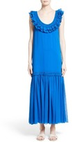 Opening Ceremony Women's Silk Chiffon Ruffle Maxi Dress