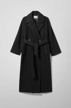 Weekday Kia Wool Blend Coat - Black