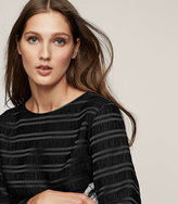 Reiss New Collection Mandy Textured Long-Sleeve Top