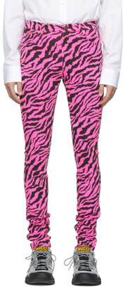 Gucci Pink and Black Zebra Skinny Jeans