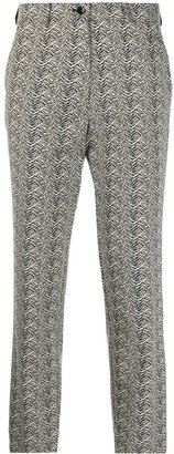 Etro Tiger Stripe-Pattern Trousers