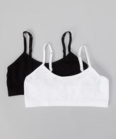 Rene Rofe Black & White Bra Set - Girls