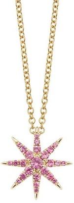 Robinson Pelham Tsar Star 14K Yellow Gold & Pink Sapphire Pendant Necklace