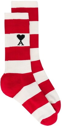Ami de Coeur striped socks