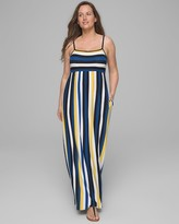 Invisible Support Striped Maxi Dress with Built-In Bra