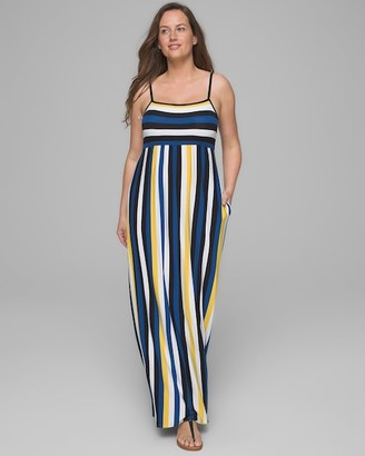 Striped Maxi Dress with Built-In Bra