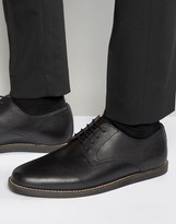 Frank Wright Trinder Lace Up Shoes In Black Leather
