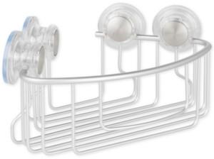 InterDesign Metro Aluminum Turn-n-Lock Corner Basket Bedding