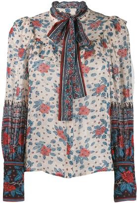 Ulla Johnson floral long-sleeve blouse