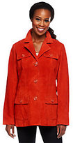Denim & Co. Washable Suede Jacket with Pockets