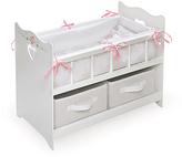 Badger Basket White Rose Two-Basket Doll Crib