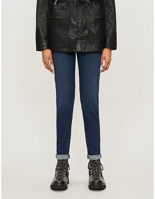 J Brand Ladies Blue Cotton Ruby High-Rise Cigarette Jeans, Size: 23