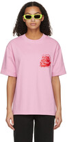 Thumbnail for your product : SSENSE WORKS SSENSE Exclusive Jeremy O. Harris Pink Rose T-Shirt