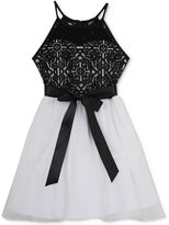 Rare Editions Lace Chiffon Halter Party Dress, Big Girls (7-16)