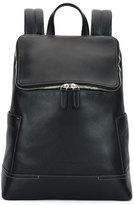 Salvatore Ferragamo Baires Pebbled Leather Backpack, Black