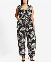 City Chic Trendy Plus Size Floral Jumpsuit