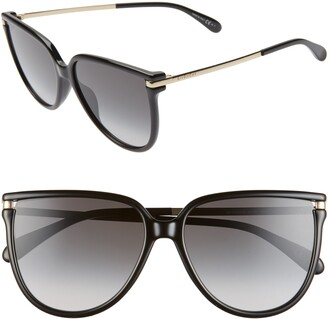 Givenchy 58mm Gradient Cat Eye Sunglasses