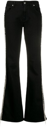 John Richmond Brigitte stud-embellished flared jeans
