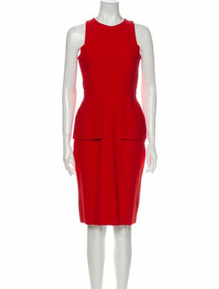 Alexander McQueen 2013 Knee-Length Dress Red