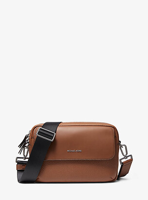 Michael Kors Hudson Pebbled Leather Crossbody Bag