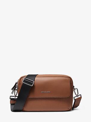 Michael Kors Hudson Pebbled Leather Crossbody Bag - Black
