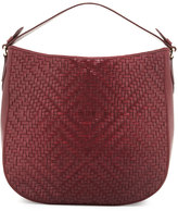 Cole Haan Skyler Woven Leather Hobo Bag, Windsor Red