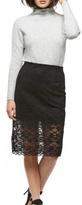 Black Tape Midi Lace Skirt