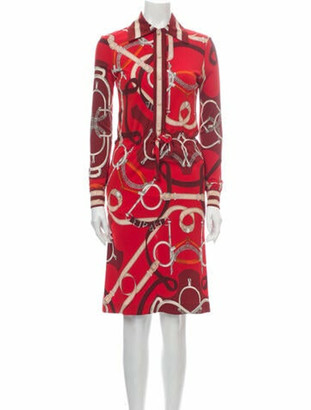 Hermes Vintage Knee-Length Dress Red