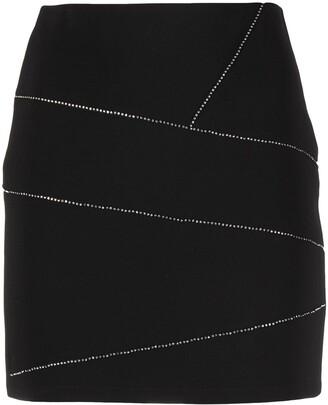 Patrizia Pepe Rhinestone Embellished Slim Cut Skirt