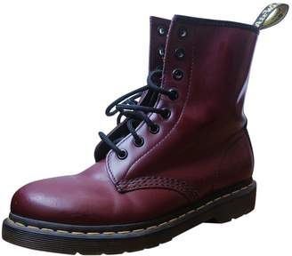 Dr. Martens 1460 Pascal (8 eye) Burgundy Leather Ankle boots
