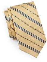 Black Brown 1826 Diagonal Striped Silk Tie