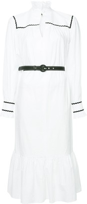 ALEXACHUNG Alexa Chung Pierette belted shirt dress