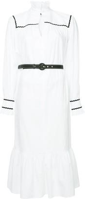 ALEXACHUNG Pierette belted shirt dress