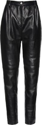 Magda Butrym Wembley Pleated Leather Pants