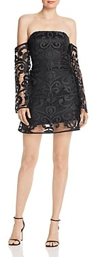 Finders Keepers Alchemy Off-The-Shoulder Lace Mini Dress - 100% Exclusive