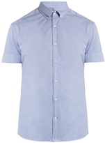 Brunello Cucinelli Short-sleeved cotton-piqué shirt