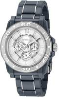 Breil Milano Men's Quartz Watch with Grey Dial Analogue Display and Black PU Bracelet TW0992