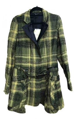 Martine Sitbon Yellow Wool Coat for Women