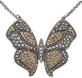 Victoria Crowne Sterling Silver Marcasite Vintage Style Butterfly Necklace